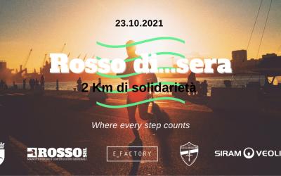 """""""Rosso di…Sera: 2KM di solidarietà"""": il 23 ottobre la nuova data!"""